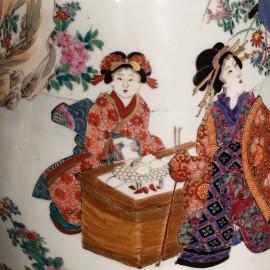 Pair Japanese Vases