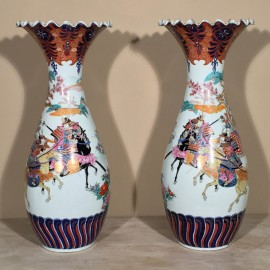 Pair Japanese Vases