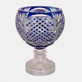 Val Saint Lambert Zorba Cobalt Vase