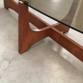 Mid-Century Oval Salon Table