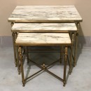 Neoclassical marble top nesting tables