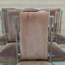 Set of 6 suede chairs
