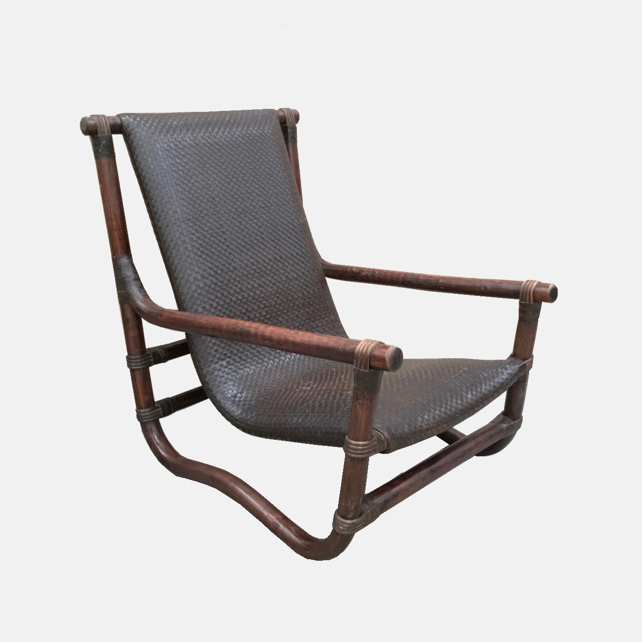 Bon Bamboo U0026 Leather Lounge Chair