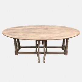 Large gate-leg table
