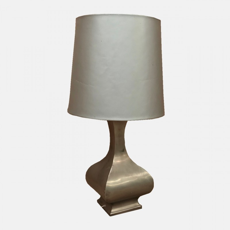 Mid Century pewter table Lamp