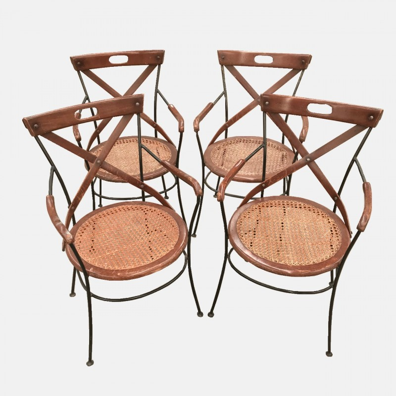 Set of 4 bistro armchairs