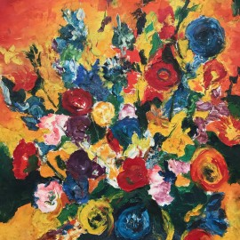 Floral Painting by F. Fastre