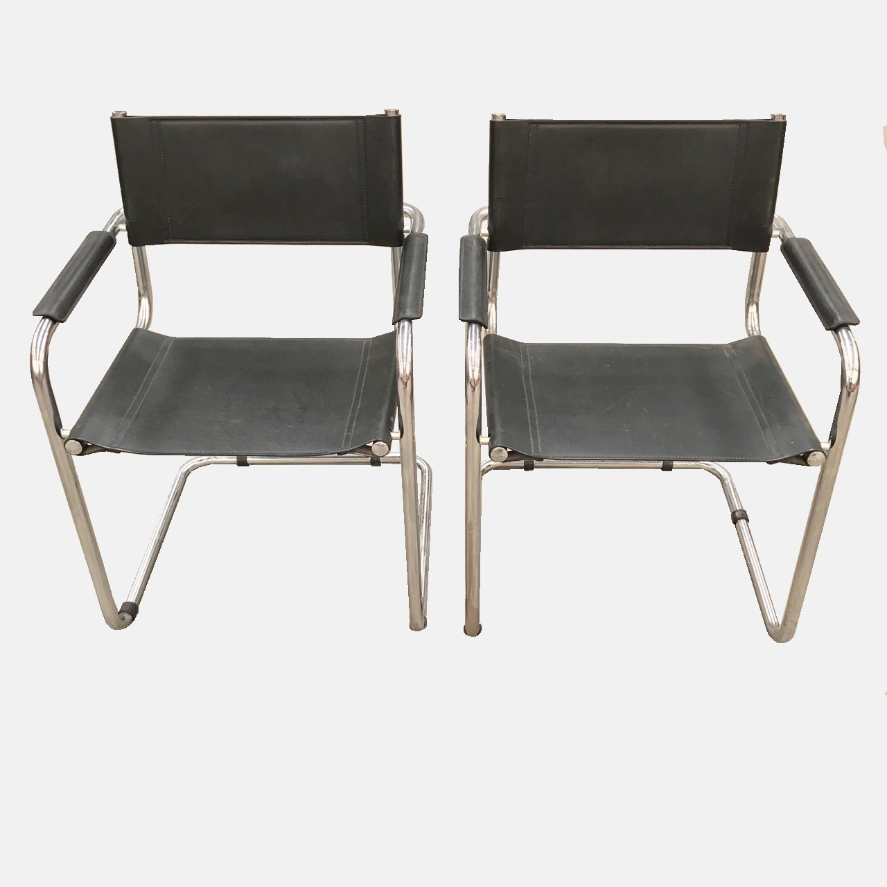 Pair B34 armchairs after Marcel Breuer