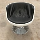 Cognac fiberglass chair after Eero Aarnio