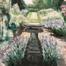 Garden view Painting by M. Vyneke
