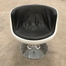 Pair Cognac fiberglass chairs after Eero Aarnio
