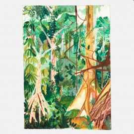 Mid centunry Rain forrest painting