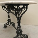 Cast iron Bistro table with Carrara marble top