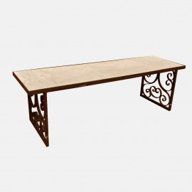 Wrought Iron table with Carrara marble top