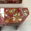 Vintage chinoiserie dressing table & mirror